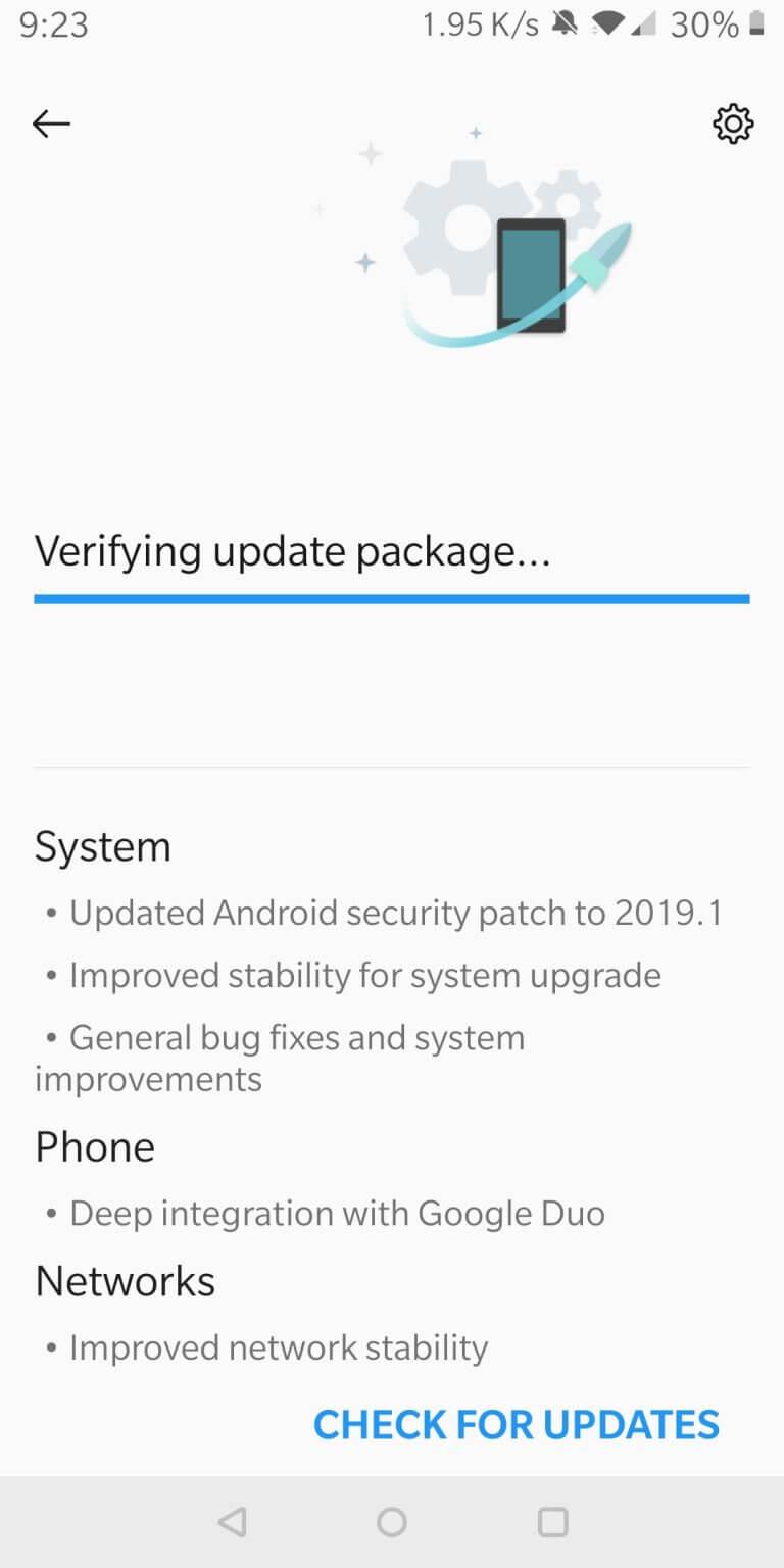 OnePlus 5T OTA Update